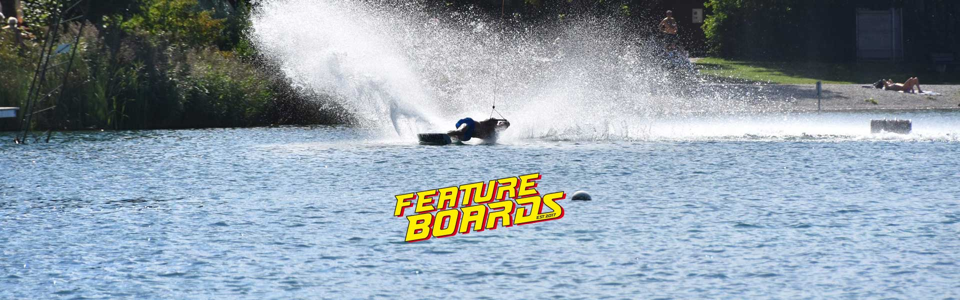 Feature Boards on water